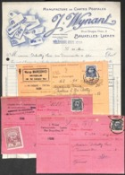 Manufacture Cartes Postales (1 Facture Illustrée & 3 Cartes Réc.) Wynant Marco Marcovici & Maréchal + Timbres RARE - Other