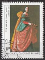 "Guinea Bissau 1984 Sc. 555 ""Santa Casilde Di Toledo"" Quadro Dipinto F. De Zurbaran Barocco Paintings CTO - Guinea-Bissau"