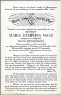 Geel, Vorselaar, 1962, Maria Maes, Henderickx - Imágenes Religiosas