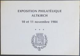 FRANCE 1984 Document Format A5 Exposition Philatélique Nov 1984 Flamme 1er Jour ALTKIRCH Gravure Taylor 500 Ex. [GR] - Expositions Philatéliques