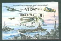 Gibraltar: 1995   50th Anniv Of End Of WW II  M/S  MNH - Gibraltar