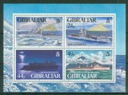 Gibraltar: 1995   WW II Warships (Series 3)  M/S  MNH - Gibilterra