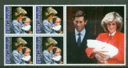 Gibraltar: 2002   18th Birthday Of Prince Harry   MNH Blocks Of 4 - Gibilterra
