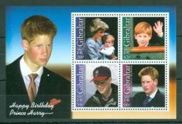 Gibraltar: 2002   18th Birthday Of Prince Harry  M/S   MNH - Gibilterra