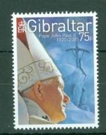 Gibraltar: 2005   Pope John Paul II Commemoration   MNH - Gibilterra