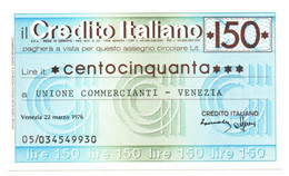 1976 - Italia - Credito Italiano - Associazione Commercianti - Bologna - [10] Assegni E Miniassegni