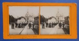 Clichés Stéréoscopiques Albuminés Sur Carton - Paris - Exposition De 1900 - Passerelle Des Invalides - Stereoscopio