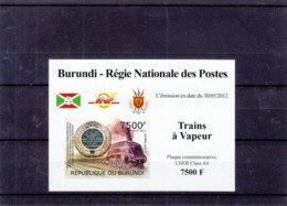 Trains à Vapeur - Burundi - COB 1658 ** - NON Dentelé - En Petite Feuille - Valeur 35 € ++ - Trains