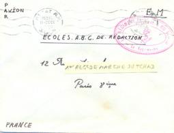 MILITAIRE MAROC : 1er RÉGIMENT DE MARCHE DU TCHAD - OMec RABAT Du 11-DECE-1956 - Marcophilie (Lettres)
