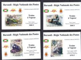 Trains à Vapeur - Burundi - COB 1654 / 7 ** - NON Dentelé - En Petites Feuilles - Valeur 36 € ++ - Trains