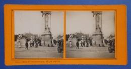 Clichés Stéréoscopiques Albuminés Sur Carton - Paris - Exposition De 1900 - Pylône Du Pont Alexandre III - Stereoscopio