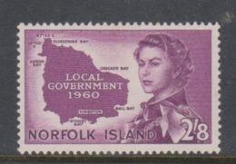 Norfolk Island SG 40 1960 Local Government Mint Light Hinged - Norfolk Island