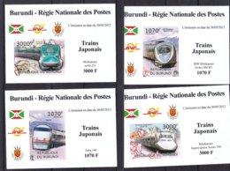 Trains Chinois - Burundi - COB 1634 / 7 ** - NON Dentelé - En Petites Feuilles - Valeur 37 € ++ - Trains