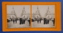 Clichés Stéréoscopiques Albuminés Sur Carton - Paris - Exposition De 1900 - Esplanade Des Invalides - Stereoscopio