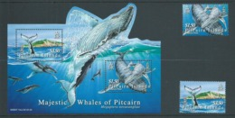 Pitcairn Islands 2006 Humpback Whales Set Of 2 & Miniature Sheet MNH - Stamps