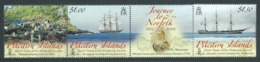 Pitcairn Islands 2006 Norfolk Island Migration Anniversary Strip Of 3 With Label MNH - Stamps