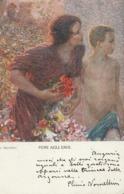 Cartolina  - Postcard /   Viaggiata - Sent /  Donnina, Fiori Agli Eroi. - Mujeres