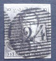 BELGIE  1849  Nr. 1     P 24     Gestempeld    CW  90,00 - 1849 Epaulettes