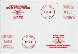 FRANCE - 1988 - Double-EMA - Specimen Secap - Vétérinaires Sans Frontières - Specimen