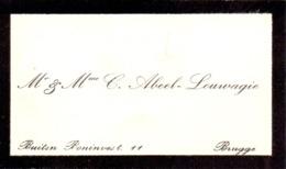 Visitekaartje - Carte Visite - Mr & Mme C. Abeel - Louwagie - Brugge - Cartoncini Da Visita
