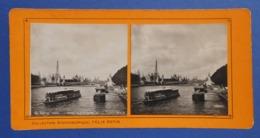 Clichés Stéréoscopiques Albuminés Sur Carton - Paris - Exposition De 1900 - Pont Alexandre III - La Tour Eiffel - Stereoscopio