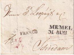 PREUSSEN 1823 LETTRE DE MEMEL - Deutschland