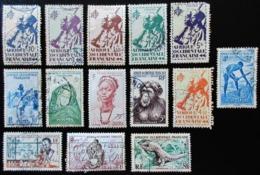 A.O.F Lot De 26 Timbres Oblitérés Traces Jaunis - A.O.F. (1934-1959)