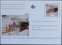 BELGIQUE BK 44/1 ** MNH Carte Postale + Entier Postal Stationary TINTIN Dans Le Métro Fresque Selon HERGE [GR] - Bandes Dessinées