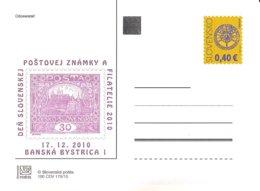 CDV 190 Slovakia Day Of The Slovak Stamp And Philately 2010 Mucha's Design Of The 1st Czechoslovak Stamp. Prague Castle - Tag Der Briefmarke
