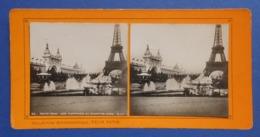 Clichés Stéréoscopiques Albuminés Sur Carton - Paris - Exposition De 1900 - Les Fontaines Du Champ De Mars - Photos Stéréoscopiques
