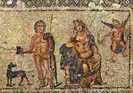 Art - Mosaiques - Hippolyte Et Phèdre - Mosaique De La Maison De Dionysos à Paphos - 3e S Après JC - Voir Scans Recto-Ve - Arts
