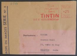 FRANCE Flamme EMA Du 20 Fév 1962 AUBERVILLIERS (Seine) : Promotion Sur TINTIN De HERGE KUIFJE [GR] Rare - Bandes Dessinées