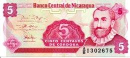 Billet Nicaragua 5 Cinco Centavos  De Cordoba - Neuf - Nicaragua
