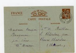 FRANCE -  ENTIER POSTAL - TYPE IRIS - N° Yvert SANS-VALEUR-CP1 Obli. De ROYAN - Cartes Postales Types Et TSC (avant 1995)