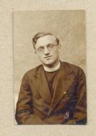 W24-Priest In Clothes,Round Glasses 1930.Christian Religion,Catholic School Travnik Bosnia???-Vintage Photo Snapshot - Mestieri