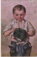 M. Budinski - Bub Mit Kaputtem Hut Ca 1920 - Malerei & Gemälde