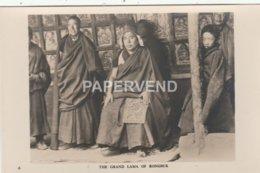 Tibet   The Grand Lama Of Rongbuk Monastry RP Tb28 - Tibet