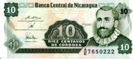 Billet Nicaragua 10 Diez Centavos  De Cordoba - Neuf - Nicaragua