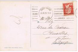 OLYMPIC CHAMONIX 1924 CACHET PRESTIGE, BELLE FRAPPE, CARTE MAGNIFIQUE COULEUR - Ete 1924: Paris