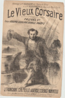 (ETH)LE VIEUX CORSAIRE , FAUVEL , Paroles J TRANCHANT , Musique S SEBAST - Partitions Musicales Anciennes