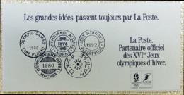 FRANCE 2632 FDC + Timbre Hologramme Sur Document De La Poste Jeux Olympiques Albertville 1992 [GR] Rare Collector - Documents Of Postal Services