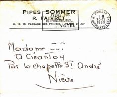France - 1960 - Lettre Commerciale  De Paris Pour La Chapelle St André - France