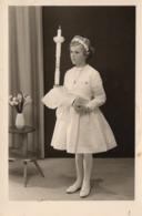 Erstkommunion - Mädchen Mit Kerze Ca 1940 Studiofoto 2 - Kommunion