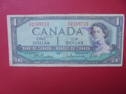 CANADA 1$ 1954 CIRCULER (B.8) - Canada