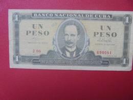 CUBA 1 PESO 1964 CIRCULER (B.8) - Cuba