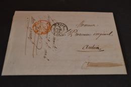 Lettre 1853 Du Commissaire De Police De ST Malo Pour Le Procureur Impérial D'Autun - Marcophilie (Lettres)