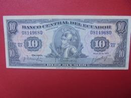 EQUATEUR 10 SUCRES 1971 CIRCULER (B.8) - Equateur