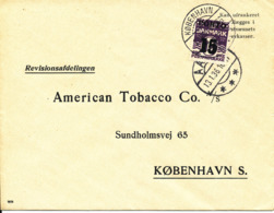 Denmark Cover Sent Unpaid To American Tobacco Co. Kbh. Aars 13-1-1936 And Franked With 15/12 öre Porto Taxe Stamp - 1913-47 (Christian X)