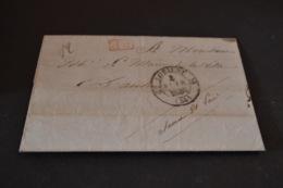 Lettre 1836 Lorient En Port Payé Pour Autun - Marcophilie (Lettres)