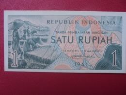 INDONESIE 1 RUPIAH 1961 PEU CIRCULER (B.8) - Indonesien